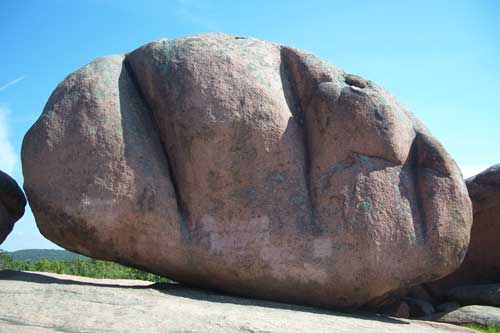 Giant Red Granite Boulders at Elephant Rocks State Park