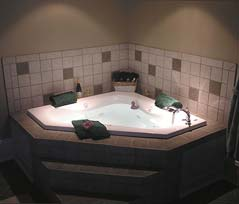 Soak your cares away in your Jacuzzi tub.
